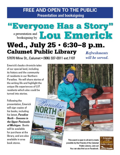 """Everyone Has a Story"" a special presentation by Lou Emerick"