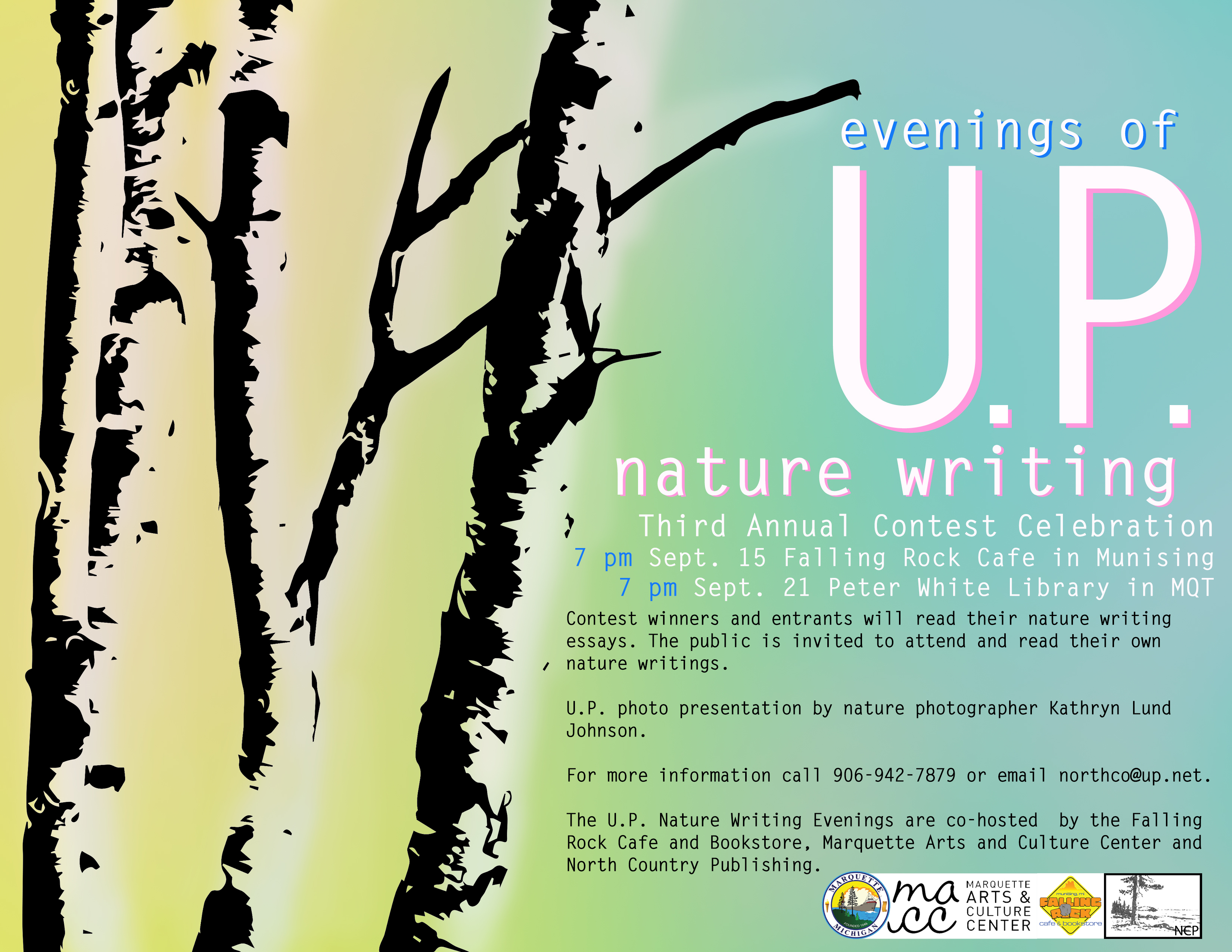 munising upper peninsula publishers authors association natureeveningssmall poster