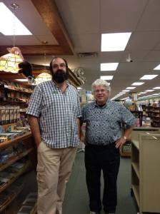(Lee Laforge with local author Allen Wright)